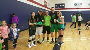 Winners of the Pot of Gold League: Rebels: (Luke Dunigan, Brittany Deal, Chelsea M., Nick Contreras,Gavin Rodgers, Clay Frederick)