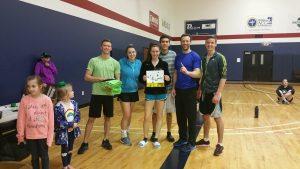 Winners of the Lucky Charm League: Green with Envy (Josh Scott, Caleb Scott, Nickelle Raschick, Joe Haffey, Josh Henle, Katie Henle)