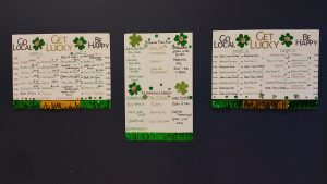 Summer's handmade schedule and score charts